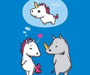 unicorn, funny, and horse image