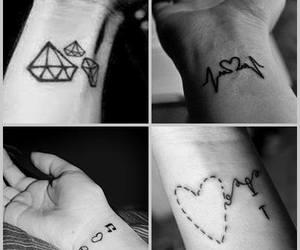 diamond, heart, and paz image