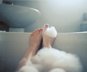 bath, feet, and photography image