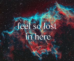 galaxy, colors, and feel so lost in here image