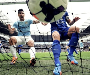 football, manchester city, and aguero image