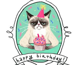 cat, birthday, and happy birthday image