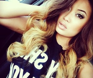 hair, ombre, and asian image