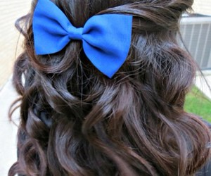 blue, love, and bows image