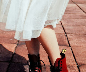 grunge, dress, and boots image