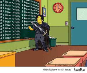 simpsons, winter is coming, and game of thrones image