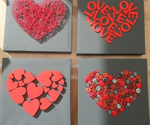 hearts, red, and cute image