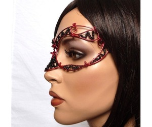beads, mask, and costume image