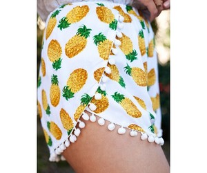 pineapple, girl, and short image