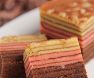 asian, cake, and kuih lapis image