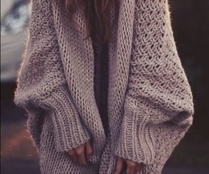 cozy, girl, and sweater image