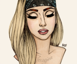 Lady gaga, gaga, and drawing image