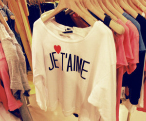 je t'aime, clothes, and french image