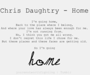 home, music, and daughtry image