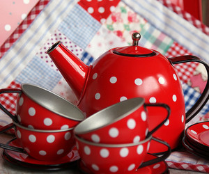 polka dots and tea set image