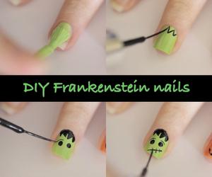 nails, diy, and Frankenstein image