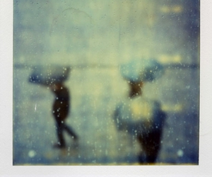 rain and polaroid image