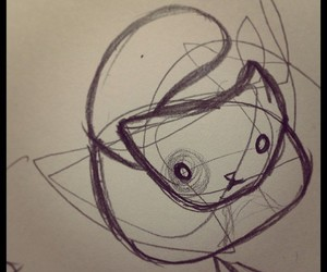 cat, cats, and doodle image