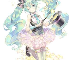 miku, vocaloid, and cute image