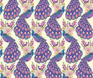 pattern and peacocks image