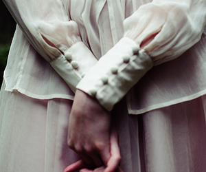 hands, dress, and white image