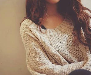 girl, sweater, and hair image
