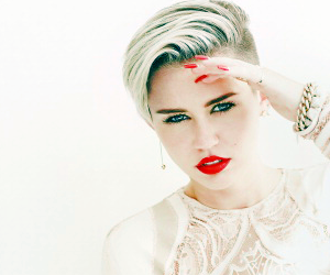 miley cyrus, miley, and white image