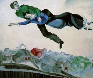 art, over the town, and marc chagall image