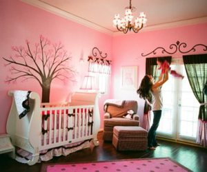 pink, baby, and interior image