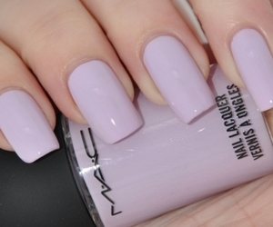 nails, mac, and purple image