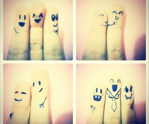 draw, faces, and fingers image