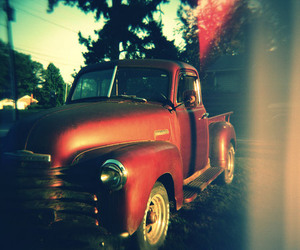 car, red, and truck image