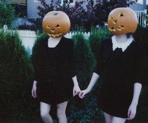 girls, night, and happyhalloween image