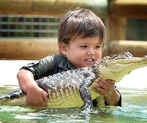 aligator, cute, and love image