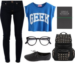 geek, fashion, and outfit image