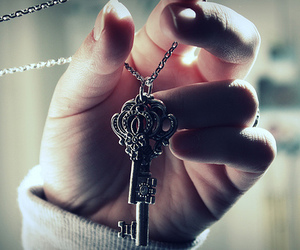 jewelry, key, and necklace image