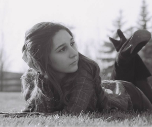 boots, brunette, and grass image