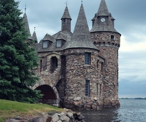 castle, sea, and medieval image