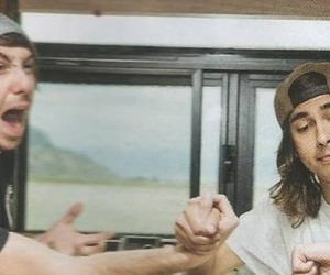 alex gaskarth, vic fuentes, and all time low image