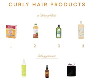curly hair, hair products, and hair tips image