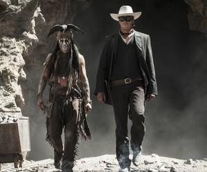 johnny depp, movie, and the lone ranger image