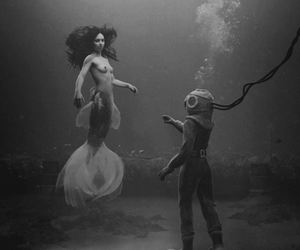 black & white, fairytale, and porn image