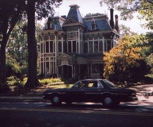house, car, and hipster image