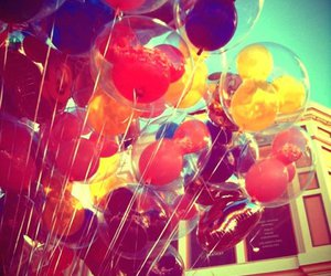 balloons, colourful, and disney image
