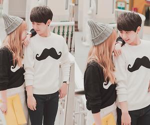 cute, couple, and kfashion image