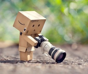 danbo, camera, and photography image