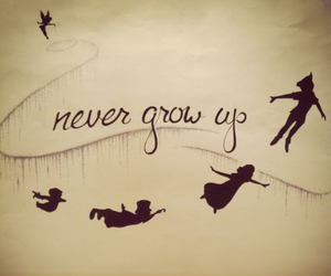 peter pan, disney, and never image