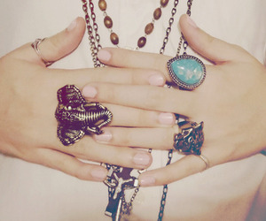 girl, fashion, and rings image