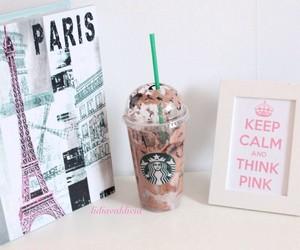 starbucks, paris, and pink image