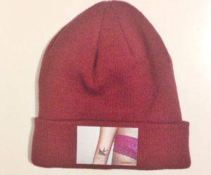 autumn, red, and beanie image